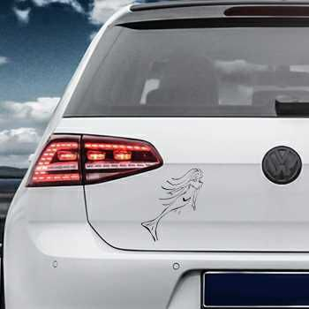 Mermaid Cartoon Volkswagen MK Golf Decal