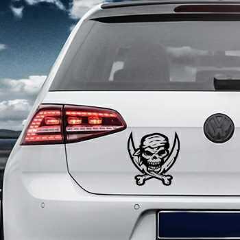 Pirate Swords Skull Volkswagen MK Golf Decal 22