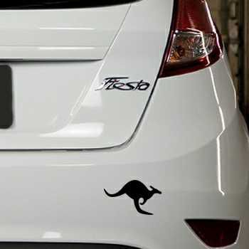 Kangaroo Ford Fiesta Decal