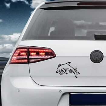 Flowers Dolphins Volkswagen MK Golf Decal