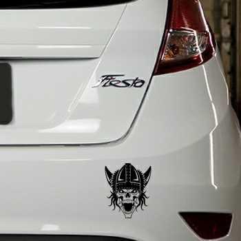 Sticker Ford Fiesta Tête de Mort Viking 30
