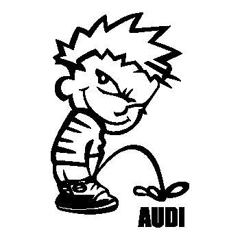 Calvin pisses AUDI Humorous T-shirt