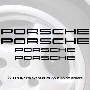 Porsche Cayenne logo brake decals set