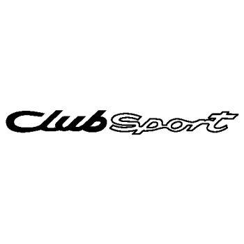 Sticker Porsche Club Sport logo