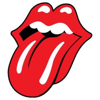 Sticker Rolling Stones langue Logo
