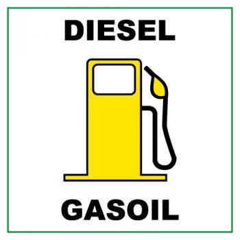 Diesel Gasoil (5 x 5 cm) Decal