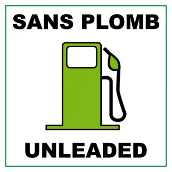 Sans Plomb Unleaded (5 x 5 cm) Decal