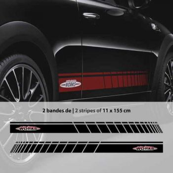 Kit Stickers Bandes Bas de Caisse Mini John Cooper Works