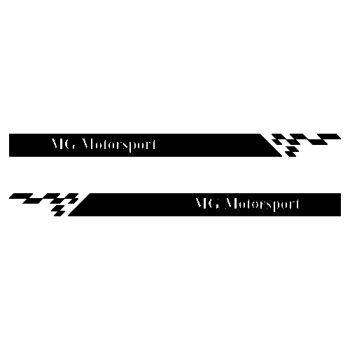 Kit Stickers Bandes Bas de Caisse MG Motorsport