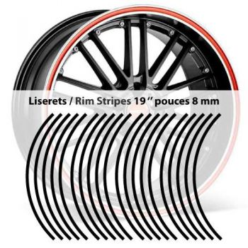 Rim stripes 8 mm wheel 19 inches stickers