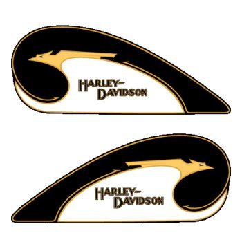 Kit stickers pour réservoir rétro Harley-Davidson ★