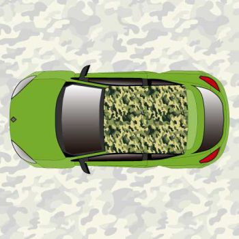 Military camouflage car roof sticker