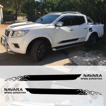 Kit Stickers Bandes Nissan Navara NP300 Expedition