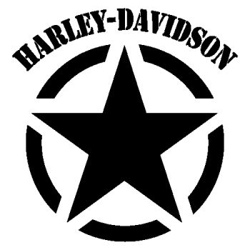 Harley Davidson Army Star Decal