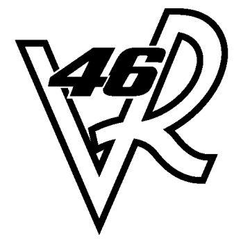 Valentino Rossi 46 VR logo decal