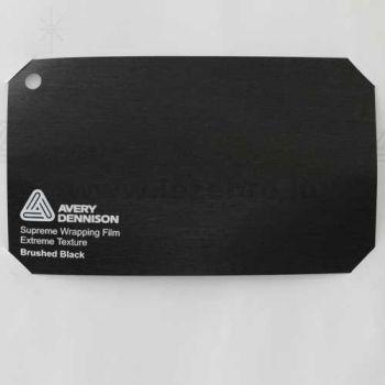Vinyle Avery Covering film 3D - Brushed Black (noir)