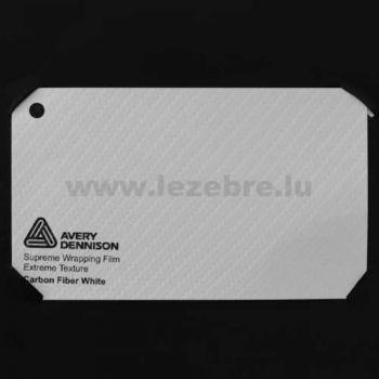 Vinyle Avery Covering film 3D - Carbon Fiber White (blanc Carbone)
