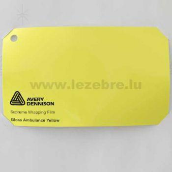 Vinyle Avery Covering film 3D - Gloss Ambulance Yellow (jaune ambulance)