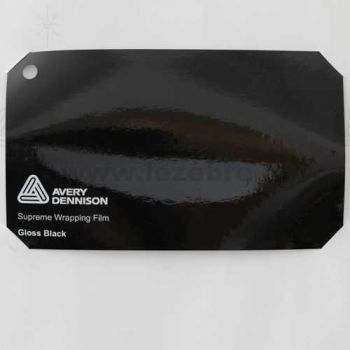 Vinyle Avery Covering film 3D - Gloss Black (noir brillant)