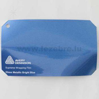Vinyl Avery Covering film 3D - Gloss Metallic Bright Blue