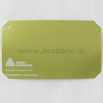 Vinyle Avery Covering film 3D - Matte Metallic Yellow Green (jaune vert mat)