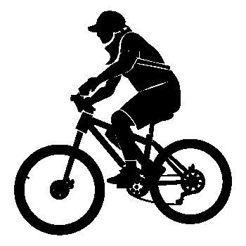 Sticker vtt vélo pour camping-car