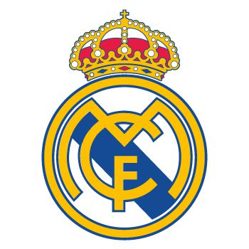 Sticker Real Madrid logo couleur
