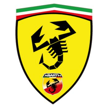 Sticker Fiat Abarth Ferrari Écusson