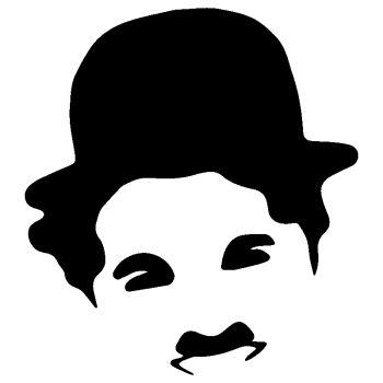 Charlie Chaplin silhouette Decal
