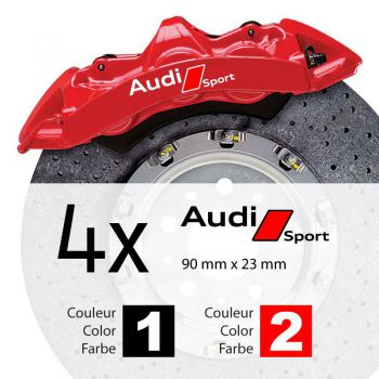 Audi Sport logo brake decals set