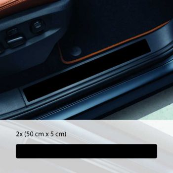 Car door sill protection decals set