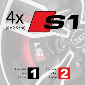 Kit stickers étriers freins Audi S1 logo