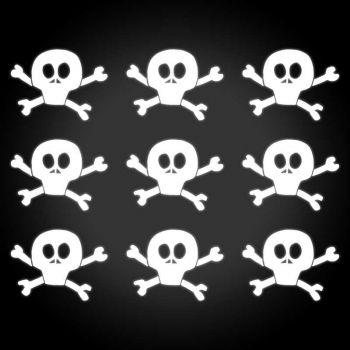 Harley Davidson Skull Softail Cross Bones reflective helmet stickers set
