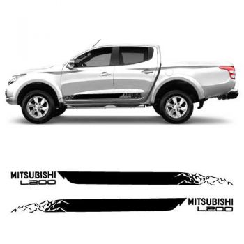 Car side Mitsubishi L200 Decals Set