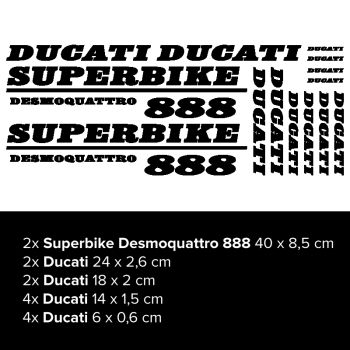 Kit Stickers Ducati Superbike Desmoquattro 888
