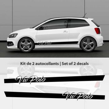 Kit stickers bandes portières VW Polo