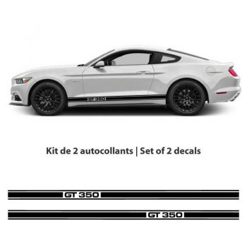 Kit stickers bandes Ford Mustang Shelby GT 350 (2015-2017)