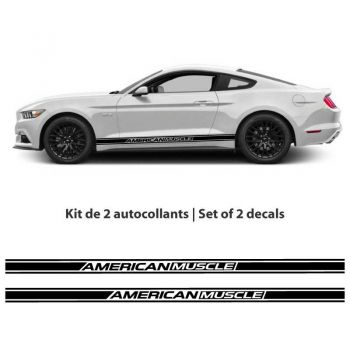 Kit stickers bandes Ford Mustang American Muscle (2015-2017)