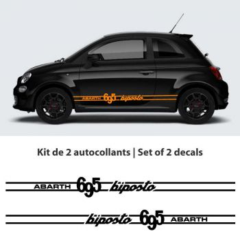 Fiat Abarth 695 Biposto car stripes Decals set