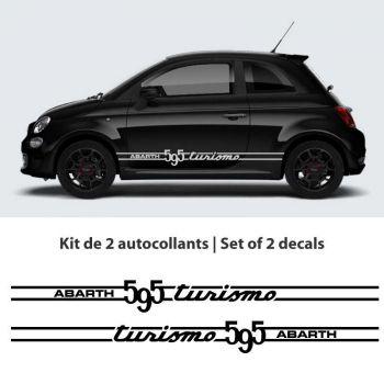 Fiat Abarth 595 Turismo car stripes stickers set