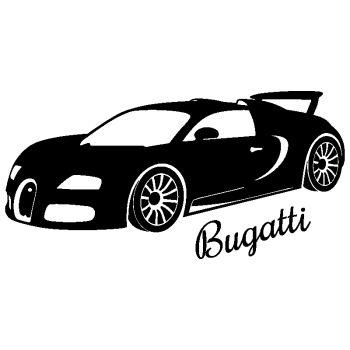 Sticker déco Bugatti