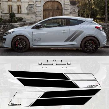 Renault Mégane III RS Trophy 275 door decoration decals set