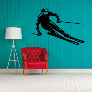 Skier Decal