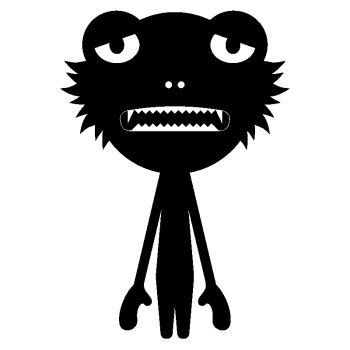 Sticker déco Monstre IX
