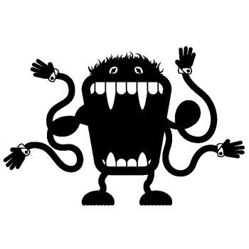 Sticker déco Monstre V