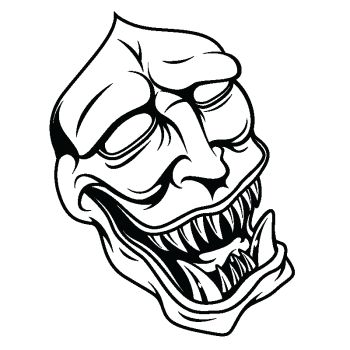 Sticker déco Monstre Masque