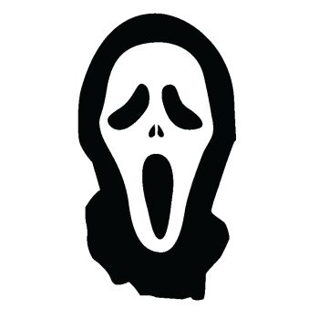 Sticker Masque Horreur style Scary Movie