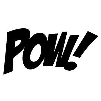 Autocollant déco cartoon POW ! I