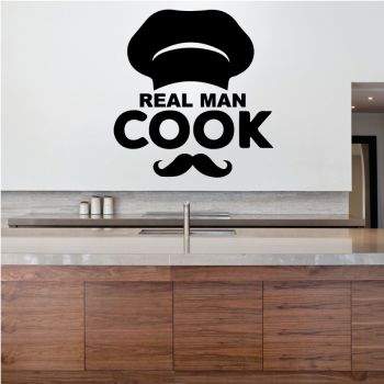 Decal Real Man Cook