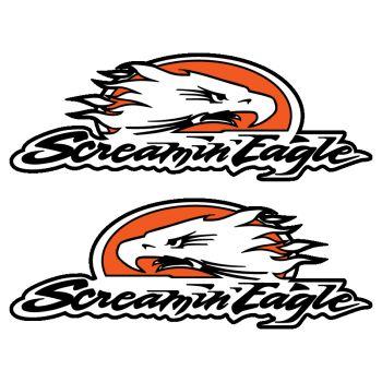Set of 2 Harley Davidson Sreaming Eagle Decals